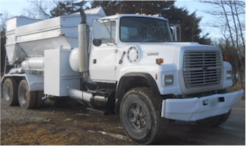 Used 1977 Daffin 6yd Mobile Volumetric Concrete Mixer on 1992 Ford LT900 for Sale