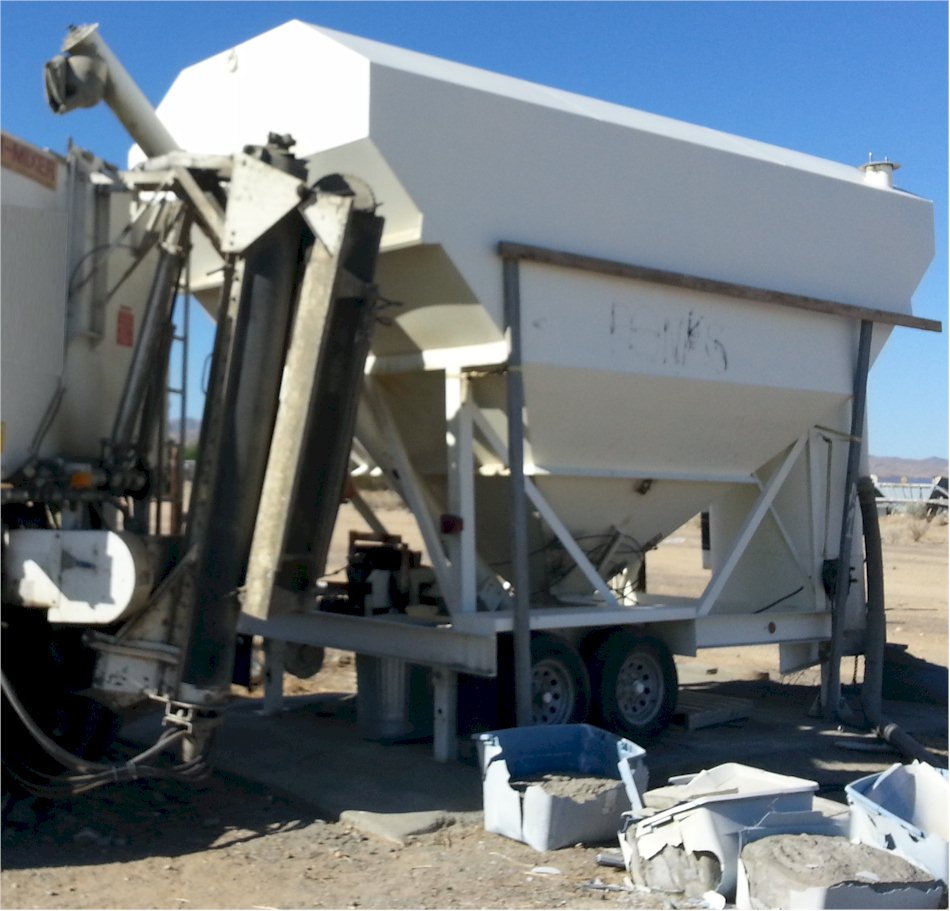 200 barrel portable cement silo lo-pro