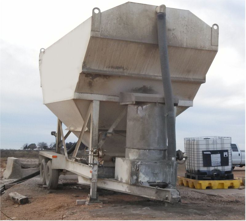 Used 200 Barrel Low Profile Portable Cemnt Silo For Sale